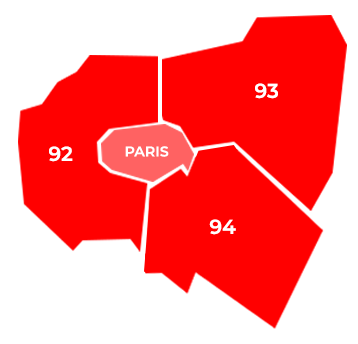 carte Paris et départements